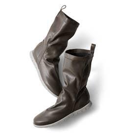 ボアインソールで暖か! 究極のやわらかさと軽さが自慢のストレッチスニーカーブーツ (グレー)