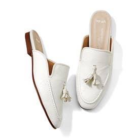 サンダルなのにローファー見え きちんと感と履き心地らくちん♪ どちらもかなえるローファーサンダル (ホワイト)