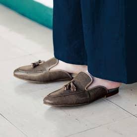 サンダルなのにローファー見え きちんと感と履き心地らくちん♪ どちらもかなえるローファーサンダル (グレージュ)
