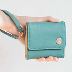 幸運を呼ぶミントグリーン 大人かわいい手のり財布 (グリーン)