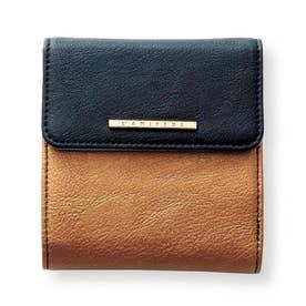 小さくたってやりくり上手 大人の賢い7つ星二つ折り財布 (ブラック×ゴールド)