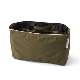 すっきり整とん トートバッグのためのインナーポケット (カーキ)