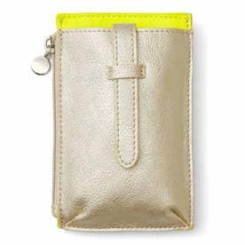 究極の手ぶら! ミニ財布としても使える ウエストスマホケース (レモン)