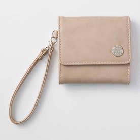 日々の暮らしに寄り添う 大人かわいい手のり財布 (グレージュ)
