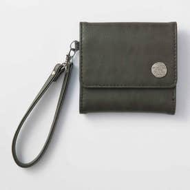 日々の暮らしに寄り添う 大人かわいい手のり財布 (チャコールグレー)