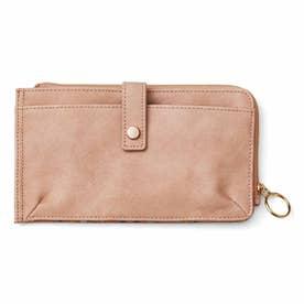 180度オープンで20枚が見わたせる! スマホも入る極薄カード財布 (モーヴピンク)