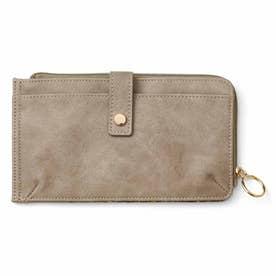 180度オープンで20枚が見わたせる! スマホも入る極薄カード財布 (モカグレー)