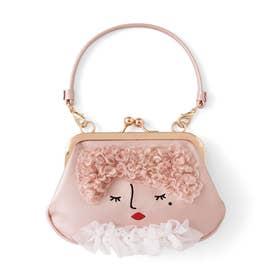 一緒に街を歩きたい おすましマドモアゼルのハンドバッグみたいながま口ポーチ (Lucie(リュシー))