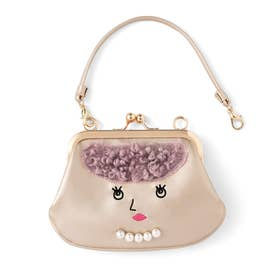 一緒に街を歩きたい おすましマドモアゼルのハンドバッグみたいながま口ポーチ (Camille(カミーユ))