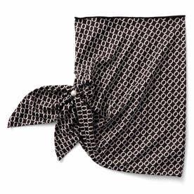 シックカラーで合わせやすい サッと着脱UVカット ワンタッチスカーフ (ブラウン)