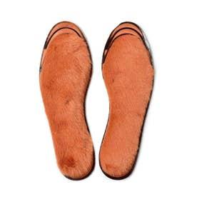 足もとにぎっしり ふわふわのぜいたく 国産エコファー消臭インソール (オレンジ)