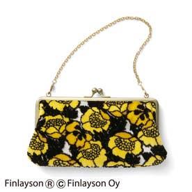 金華山パイルジャカードの華やか立体織りチェーン付き がま口お財布バッグ (ANNUKKA)