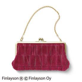 金華山パイルジャカードの華やか立体織りチェーン付き がま口お財布バッグ (CORONNA)