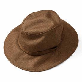 季節を問わずかぶりたい 風飛びしにくい たためるUVカット帽子 (マホガニー)