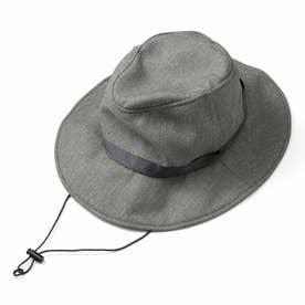 季節を問わずかぶりたい 風飛びしにくい たためるUVカット帽子 (アッシュ)