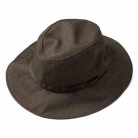 季節を問わずかぶりたい 風飛びしにくい たためるUVカット帽子 (カカオ)