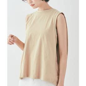 バックボックスノースリーブTシャツ [kmt0053](ベージュ)