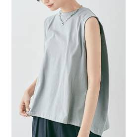 バックボックスノースリーブTシャツ [kmt0053](ブルーグレー)