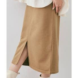 スカート《スリットデザインスウェットナロースカート 全4色》 [jnb0064] (ゴールドベージュ)