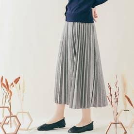 スカート《ヘリンボーン柄メルトンプリーツスカート 全5色》 [jnb0091] (グレー)