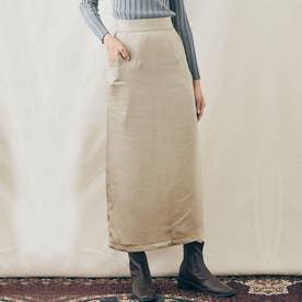スカート《シルキーサテンサイドスリットナロースカート 全5色 2サイズ》 [jnb0086] (グレージュ)