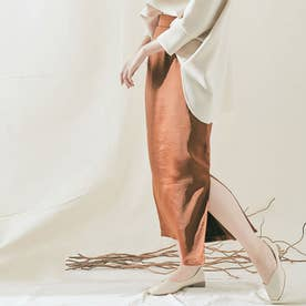 スカート《シルキーサテンサイドスリットナロースカート 全5色 2サイズ》 [jnb0086] (ラスト)