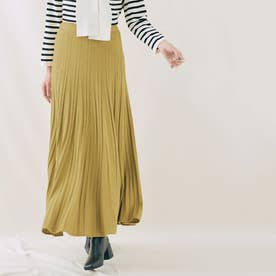 スカート《プリーツ風ニットフレアスカート 全5色》 [jnb0085] (ダストイエロー)