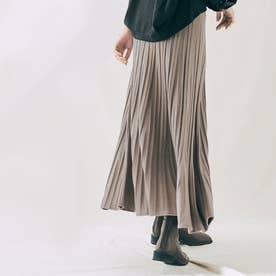 スカート《プリーツ風ニットフレアスカート 全5色》 [jnb0085] (グレージュ)