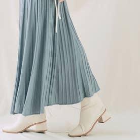 スカート《プリーツ風ニットフレアスカート 全5色》 [jnb0085] (ブルーグレー)