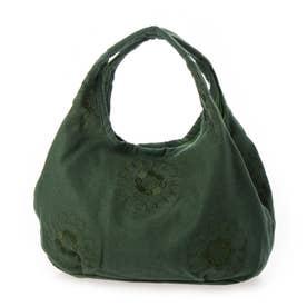 ウールナイロン刺繍フォーチューンバッグS (グリーン)