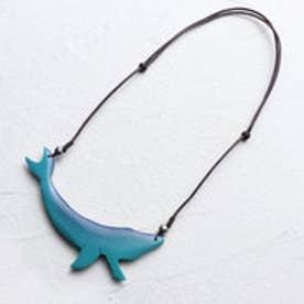 ウッドクジラネックレス (ブルー)