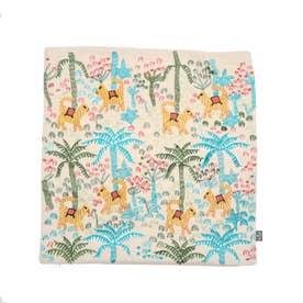 ジャングル刺繍クッションカバー (アイボリー)
