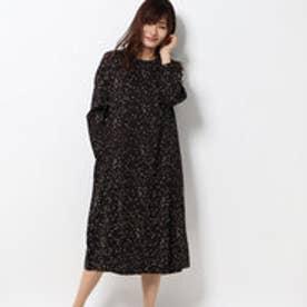 ミニスタープリントコットン2wayドレス (ブラック)