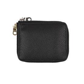 札入れ メンズ 男性 財布 カードケース 小銭入れなし 薄型 (ブラック)