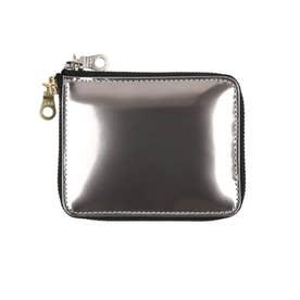 札入れ メンズ 男性 財布 カードケース 小銭入れなし 薄型 (ガラスブラック)