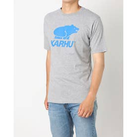 Tシャツ ロゴ入り ユニセックス BASIC LOGO ロゴ入り Tシャツ (ヘザーグレイ/ロイヤル)