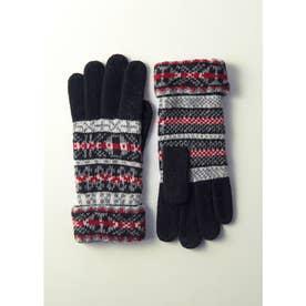 婦人編手袋 (ブラック)