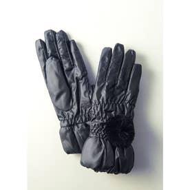 ポリエステル手袋 (ブラック)