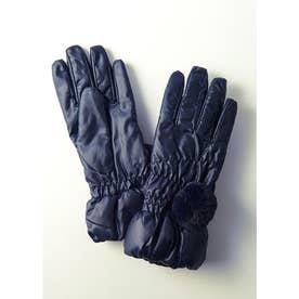 ポリエステル手袋 (ネイビー)