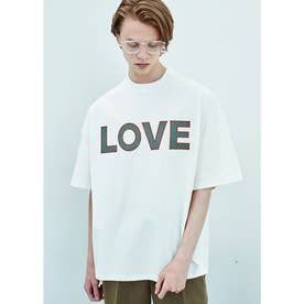 LOVE オーガニックコットン オーバーサイズTシャツ (ホワイト)