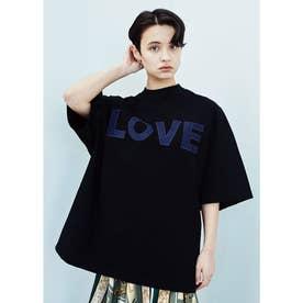 LOVE オーガニックコットン オーバーサイズTシャツ (ブラック)