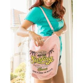【Kahiko】カラフルアロハショルダーバッグ ピンク