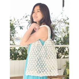 【Kahiko】マクラメ編みトートバッグ ホワイト
