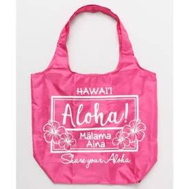 【Kahiko】Aloha レインボーエコバッグ ピンク