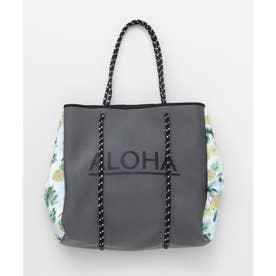 【Kahiko】ALOHAパインネオプレーントートバッグ グレー