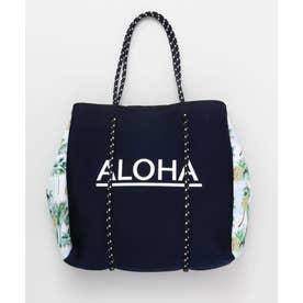 【Kahiko】ALOHAパインネオプレーントートバッグ ネイビー