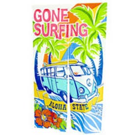 【kahiko】サーフィンバスのれん ブルー