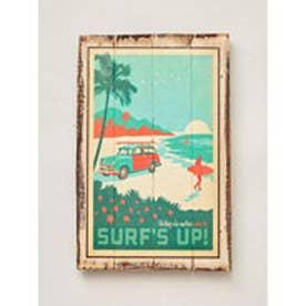 ◆【kahiko】ヴィンテージ看板 SURF'S UP! DK.Brn