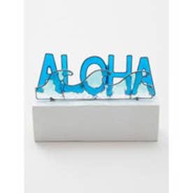 【Kahiko】ALOHAレジンオーナメント ブルー