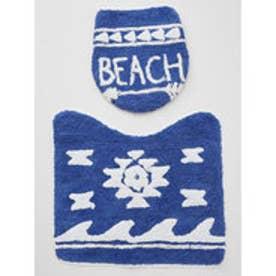 【Kahiko】BEACHアロー トイレセット ネイビー